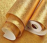 Meaosy Bar Decke Decke Lattice Blattgold Reine Farbe Pvc-Tapeten Goldene Farbe Wohnzimmer Dach Gang Tapete.