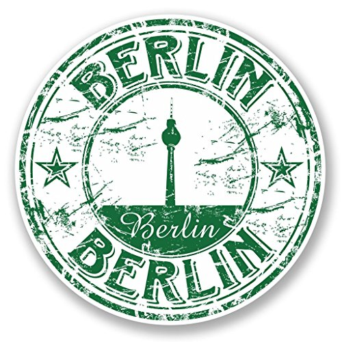 Preisvergleich Produktbild 2x Berlin Germany Vinyl Aufkleber Aufkleber Laptop Reise Gepäck Auto Ipad Schild Fun # 5763 - 10cm/100mm Wide