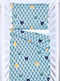 BABEES Premium Kinder Bettwäsche mit Reißverschluss Deckenbezug 100x135 mit Kissenbezug 60x40, Bettwäsche-Set Bettbezug 100% Baumwolle natur Ökotex Babybettwäsche Kinderbettwäsche (WALD)