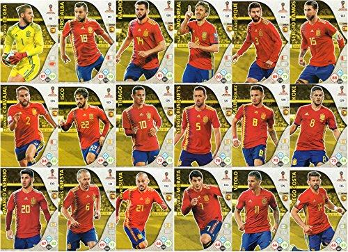 ADRENALYN XL FIFA WORLD CUP 2018– Jeu de 18 cartes des joueurs de l'équipe de l'Espagne