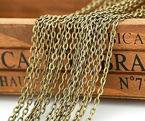 Qtmy 10m Bronze antique Plaqué Twisted Croix Chaînes pour la confection de bijoux