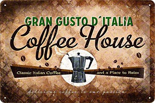 Coffee House - Targa in metallo 20 x 30 cm