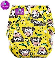 Milovia Überhose (Prefold) - Newborn (2,5-7 kg) - Funky Monkey Milovia Prefold