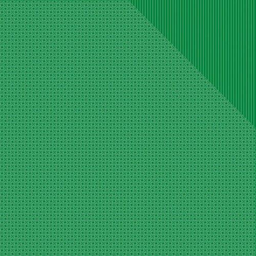Authentique Papier 18Blatt Kelly Grün One Pinwheel/gestreift Spectrum doppelseitig Karton, 30,5x 30,5cm -