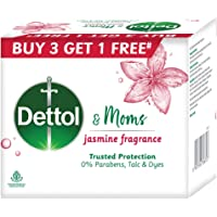 Dettol & Moms Bathing Soap Jasmine, 125gm, BUY 3 GET 1 FREE