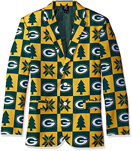 FOCO NFL Patches Business Jacke, Unisex, Team Color, Small (Suit Herren Green Jacket)