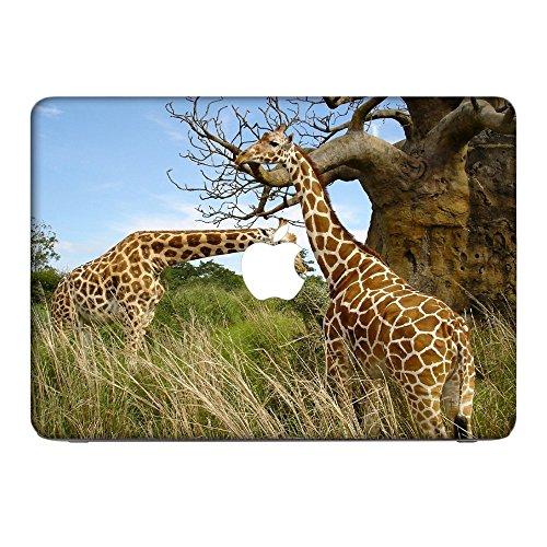 Wilde Tiere 10028, Giraffe, Skin-Aufkleber Folie Sticker Laptop Vinyl Designfolie Decal mit Ledernachbildung Laminat und Farbig Design für Apple MacBook Pro Retina 15