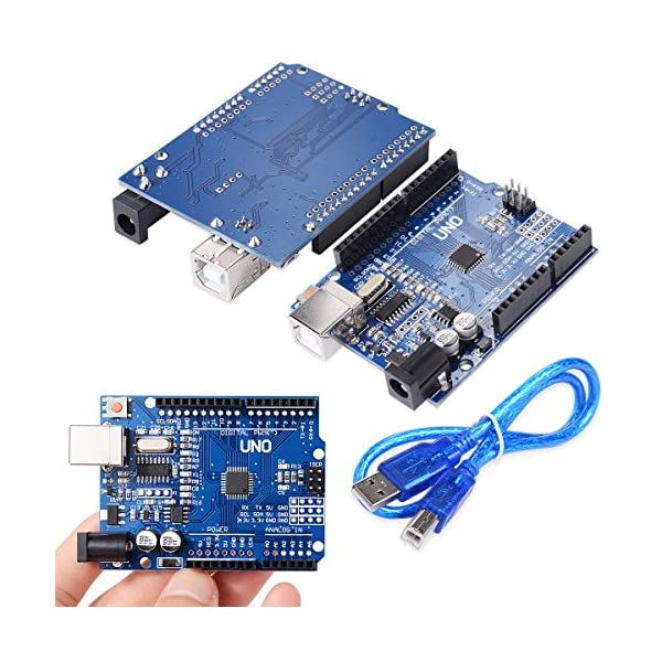 61pOBzVzoBL. SS600  - XCSOURCE® Tablero UNO R3 Rev3 Desarrollo ATmega328P CH340G AVR Compatible Arduino + Cable para Arduino HUM TE113