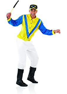 Small Fun Shack Womens Pink /& Blue Jockey Girl Costume Adults Races Horse Racer Outfit