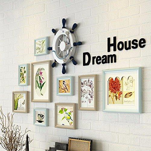 WUXK Das Mittelmeer Gemälde moderne Wohnzimmer Wandmalerei Ideen Jungen Schlafzimmer Wandmalerei Oben zimmer Wall Art Bild der Kinder Wall, B