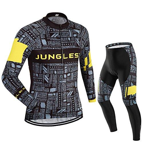 Maillot de Cyclisme Homme Manches Longues jersey(S~5XL,option:Cuissard,3D Coussin) N33