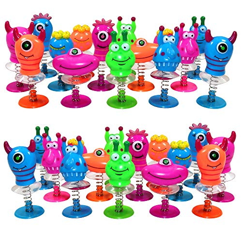Monster Jump Ups - Pack of 36 Mini Pop Up Toys - Ideal for Children Party Bags - Pi�ata Bags - Kids Prizes or Xmas Stocking Fillers