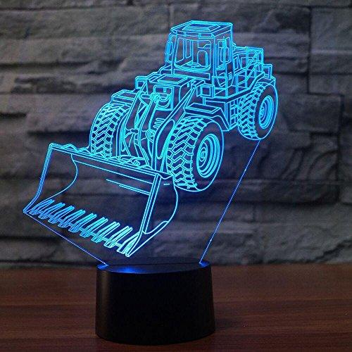 3D traktor bagger Nachtlampe 7 Farben ändern Touch Control LED Schreibtisch Tisch Nachtlicht mit bunten USB Powered für Kinder Kinder Familie Ferienhaus Dekoration Valentinstag Geschenk - Powered Bagger