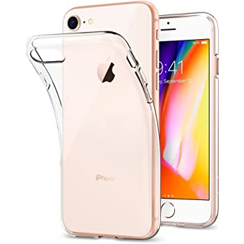 Coque iPhone 7, Coque iPhone 8, Spigen® [Liquid Crystal] Ultra Mince Premium TPU Silicone [Crystal Clear] Premium transparent / Exact Fit / NO Bulkiness Souple Coque Pour iPhone 7 (2016) et iPhone 8 (