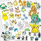 JZLMF Pokemon Original Tattoo Stickers Waterdichte Leuke Pikachu Sticker Leuke Cartoon Kid Girl Kerstmis Verjaardagsbeloning