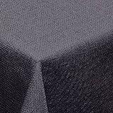 Leinen Optik Tischdecke Eckig 110x180 cm Grau bzw. Anthrazit · Eckig Farbe & Größe wählbar mit Lotus Effekt - Wasserabweisend