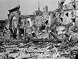 Damaged buildings during a war Spanish Civil War Toledo