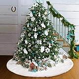 Oceanheart Manta Decorativa para pie de árbol, Faldas para el Árbol de Navidad Adornos (152CM)