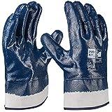 PRO FIT 12 Paar - Basic Nitril-Handschuh, blau, vollbeschichtet, Stulpe 10