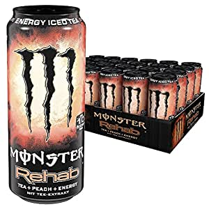 Monster Energy Rehab Peach, 24er Pack (24 x 500 ml)