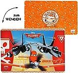 WENDE - Unterlage - ' Disney Planes - Flugzeuge Dusty ' - 42 cm * 30 cm - beidseitig bedruckt & beschichtet - Tischunterlage / Platzdeckchen / Malunterlage / Knetunterlage / Eßunterlage - Flugzeug - für Kinder Jungen / kleine Schreibunterlage - Matte - Folie