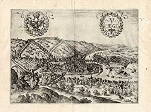 ThePrintsCollector carte Antique de bain-Luik-Belgique-Guicciardini - 1612