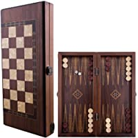 Helena wood art Classic Backgammon Set - Small | Walnut