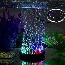 uksunvi 12 RGB LED Fish Tank Iluminación subacuática con Burbujas de Aire subacuáticas Night LED Aquarium