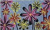 ID mate flores Coco Natural, PVC, gris rosa amarillo, 45x 75x 1,5cm..