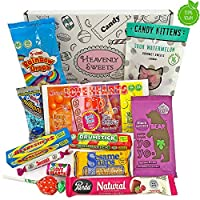 Heavenly Sweets Vegan Sweets and Chocolate Hamper Box - Selection of English and British Treats and Chocolates - Christmas, Birthday, Valentines Gift Idea - 12pcs of Goodness in a Cool Retro Package 17
