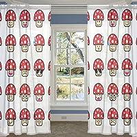Coosun Emoji Sammlung Von Unterschied Emoticon Pilz Cartoon Sheer Vorhang  Panels Tüll Polyester Voile Fenster Behandlung