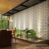 MDDW-Stile cinese bianco finto mattone parete soggiorno corridoio abbigliamento negozio blocchi mattoni carta da parati 3D , white brick pattern