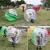 begorey 1.2m Bubble Football Bumper Ball Made of TPU 123 x 103cm,Bumper Ball,Knocker Ball, Transparent Inflatable Toy Ball (Transparent)