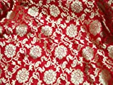 Brokat Banrasi Blumenmuster indischer Brokat Kleid Stoff
