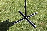 Leco Schirmständer, Kreuzständer, anthrazit, 100 x 100 x 50 cm, 21100999