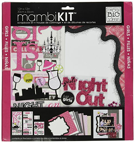 Me & My Big Ideas Scrapbook Page Kit, Girls Night Out, 12 Zoll von 12 Zoll (Markenzeichen Scrapbooking Aufkleber)