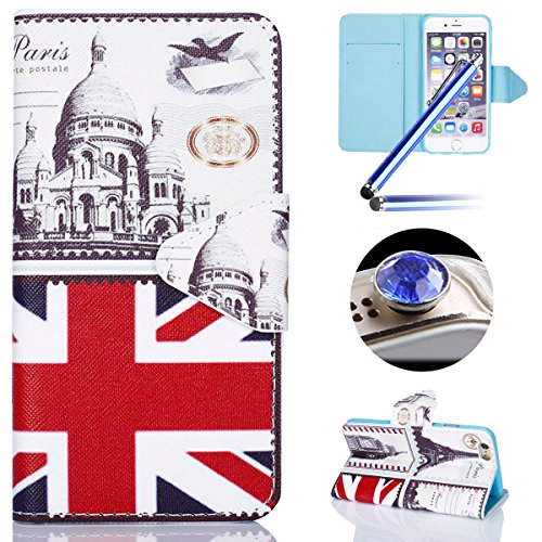 Etsue Custodia Per iPhone 6/6S 4.7 in Pelle Portafoglio,Divertente Creativo Disegno Sottile Leather PU Wallet Libro Protettivo Case Con Magnetica Stand Slim Fit Antigraffio Flip Folio Book Bumper Case a2