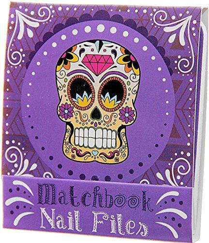 Mini kit de limes en forme de zündholzbriefchen : Day Of The Death/tête de mort/Candys Kull : Violet ~ Idéal pour les Sac à main ou un petit Attention pour offrir