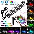 Openuye 4pcs 72 LEDs RGB Lampe Intérieur de Voitures…
