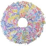 SUMERSHA Organza Schmuck Taschen Süßigkeit Beutel Schokoladen-Beutel Hochzeit Favor Geschenk-Beutel Weiß 100 Stk. 10x15cm -