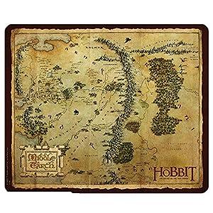 El Hobbit TIERRA MEDIA mapa alfombrilla para ratón–Alfombrilla para ratón (23x 19cm)