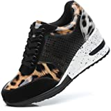 Fashion Heel Wedge Trainers for Women - Ladies Comfortable Bling Platform Walking Shoes, Best Chioce for Casual and Daily Wea