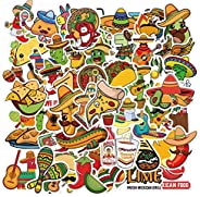 Cute Mexican Food Stickers for Skateboard, Waterproof Vinyl Decal for Teen Water Bottle Laptop, Cool Stickers