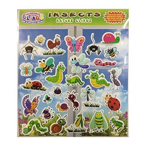 Incredible Clings Insekten & Bugs (durch unglaubliche Gel und Fenster klebt) - wiederverwendbare geschwollene Aufkleber für Kinder und Kleinkinder - Marienkäfer, Schmetterlinge (Fenster Klammert Für Kinder)