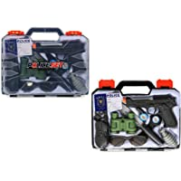 IndusBay® Police Gun Toy Set for Kids Boys , 10 Piece Police Toys Detective Toy Set - Police Carry case Suitcase Toy Set