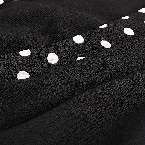 Kenancy Damen 3/4 Arm Bleistiftkleid Kontrastfarbe Bodycon Etui Businesskleid Enge Kleid mit Gürtel Schwarz