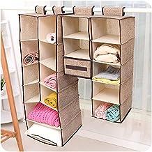 szxuanzhicai Home Caja de almacenamiento de ropa colgante (5 unidades de estantería) Friendly Closet Cubby, suéter y organizador de bolsillo - Mantenga su armario limpio y ordenado. Montaje fácil