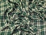 Claremont Plaid kariert Polyester Tartan passend Kleid Stoff, Meterware, Grün