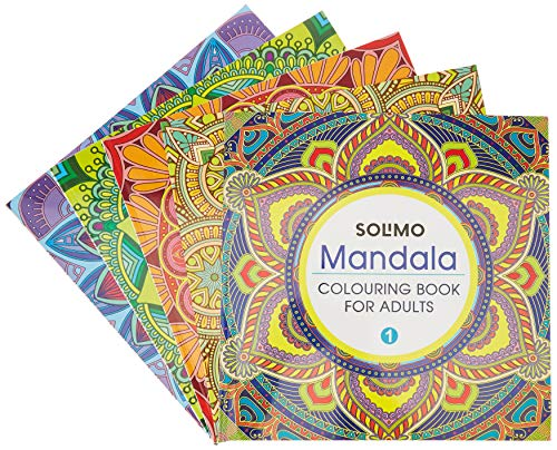 Amazon Brand - Solimo All in One Mandala Colouring Books Set (Ultimate collection)