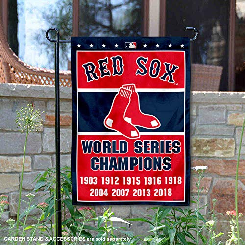 Wincraft Boston Red Sox 8-Time World Series Champions Doppelseitige Gartenflagge -